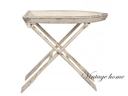 Rozkládací dřevěný stolek - 70*39*64 cm