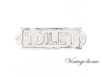 Nástěnná cedule TOILET - 18*5 cm
