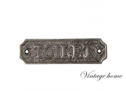 Kovová cedule TOILET - 11*3 cm