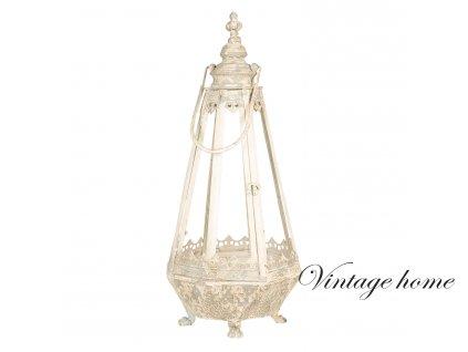 Kovová lucerna ve vintage stylu - 30*30*68 cm