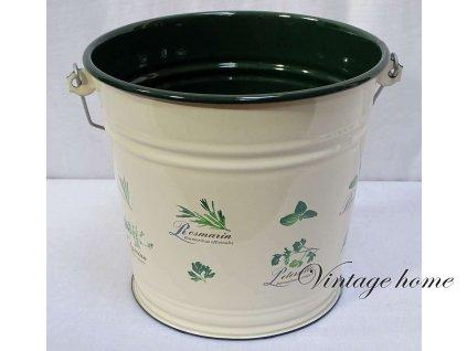 Smaltovaný kbelík, vědro Bylinkový sen - 6 l