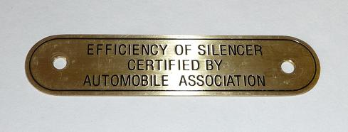 324.   Silencer label ARIEL
