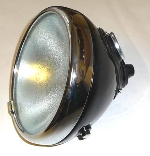 "205.  Replica of headlamp with  apparatus LUCAS 8"" 1934 - 1952"