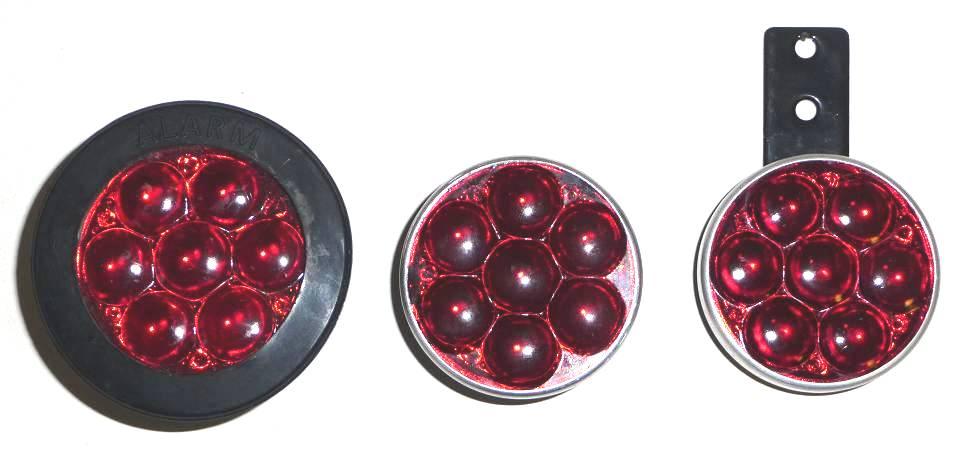 203.   Red rear reflectors