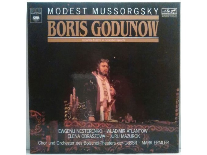 3LP Box Bolschoi-Theater der UdSSR, Mark Ermler - Mussorsky - Boris Godunov, 1986