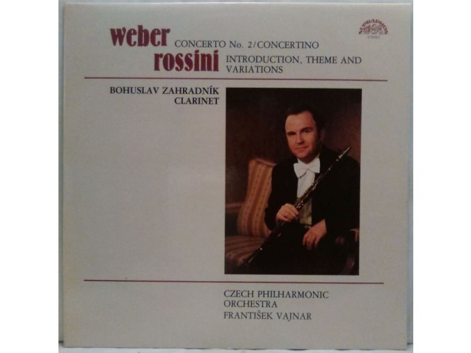 LP Weber, Rossini - Compositions For Clarinet And Orchestra