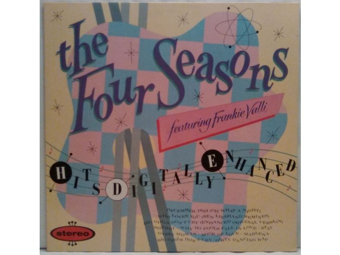 LP The Four Seasons Featuring Frankie Valli ‎– Hits Digitally Enhanced, 1988