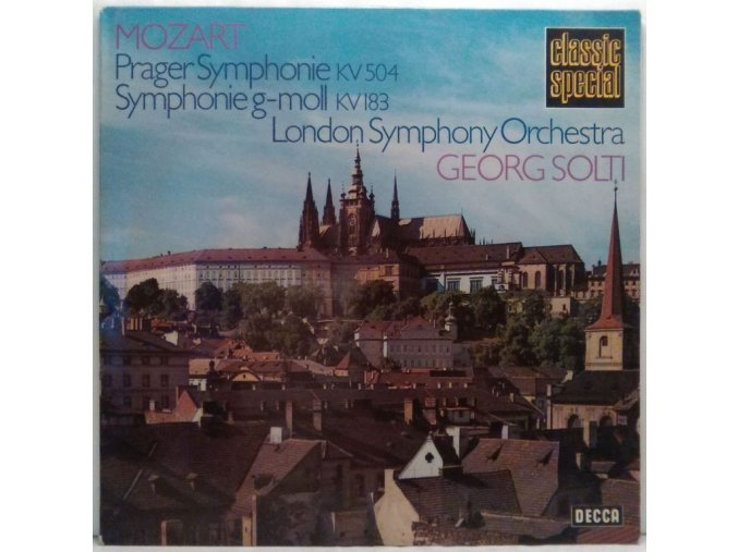LP Mozart - Georg Solti/London Symphony Orchestra - Prager Symphonie KV 504, Symphonie g-moll KV 183, 1970