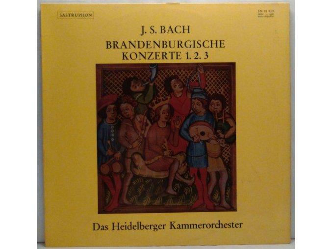 LP J. S. Bach - Heidelberger Kammerorchester - Brandenburgische Konzerte 1. 2. 3.