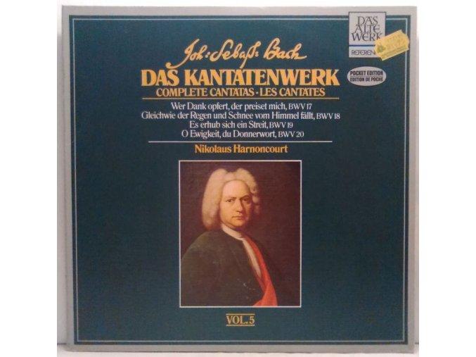2LP Johann Sebastian Bach - Nikolaus Harnoncourt - Das Kantatenwerk, Complete Cantatas, Les Cantates - Vol. 5 - BWV 17-20, 1984