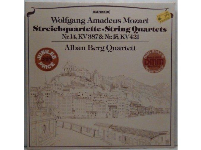 LP Wolfgang Amadeus Mozart, Alban Berg Quartett - Streichquartette Nr. 14, KV 387 & Nr. 15, KV 421, 1977