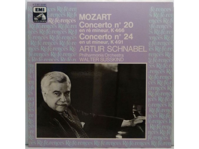 LP Mozart, Artur Schnabel, Philharmonia Orchestra, Walter Susskind - Concerto N. 20 En Ré Mineur, K 466 - Concerto N. 24 En Ut Mineur, K 491, 1982