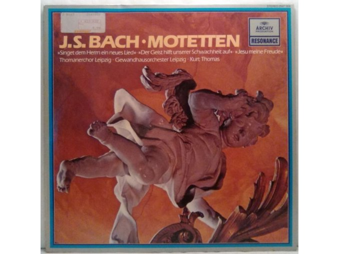 LP J. S. Bach - Thomanerchor Leipzig, Gewandhausorchester Leipzig, Kurt Thomas - Motetten, 1959