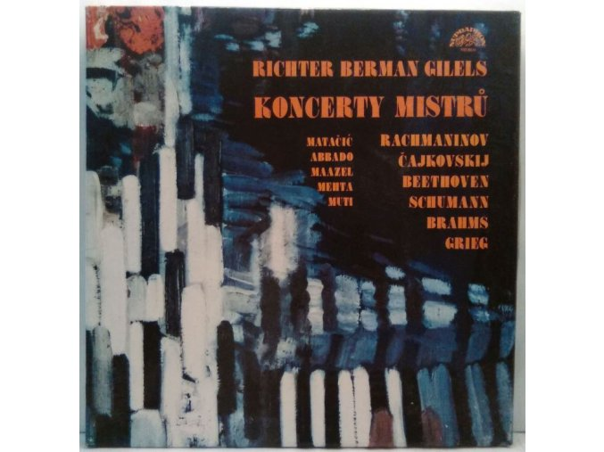 5LP Box Richter, berman, Gilels - Koncerty Mistrů, 1982