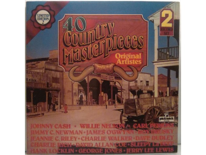 2LP Various - 40 Country Masterpieces, 1978