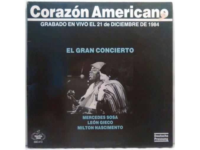 LP Mercedes Sosa / León Gieco / Milton Nascimento – Corazón Americano, 1986