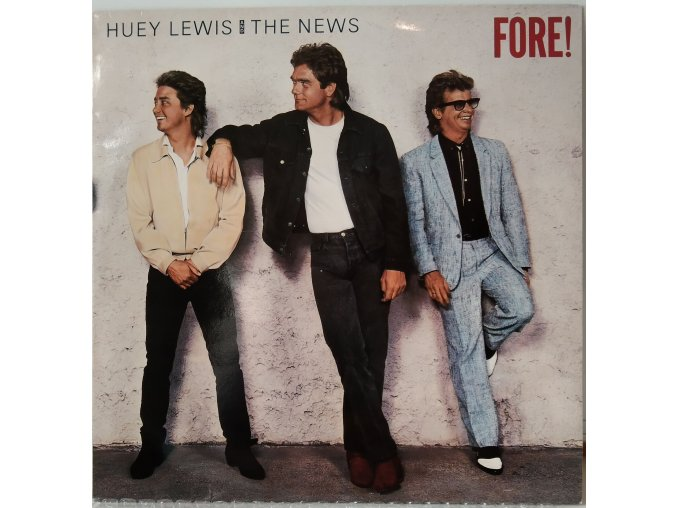LP Huey Lewis And The News - Fore! 1986