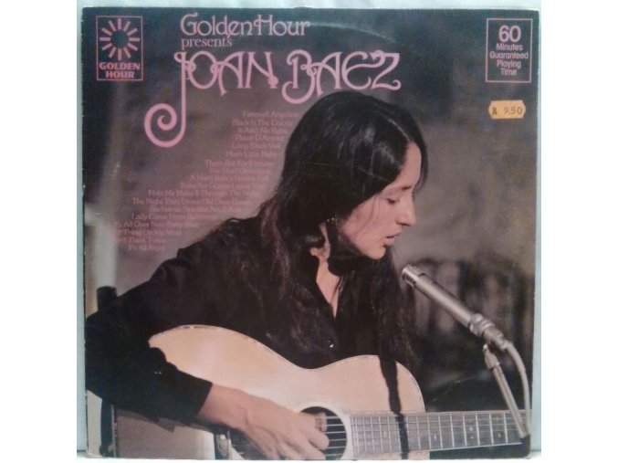 LP Joan Baez - Golden Hour Presents Joan Baez, 1976