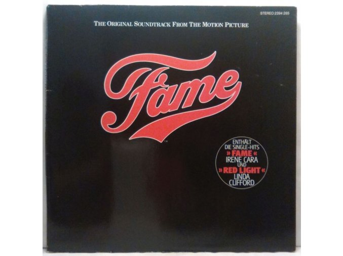 LP Various – Fame - Original Soundtrack From The Motion Picture. 1980