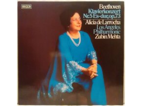 LP Alicia de Larrocha, Zubin Mehta, The Los Angeles Philharmonic – Klavierkonzert Nr. 5 Es-dur, Op. 73, 1979