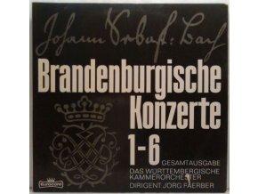 2LP Johann Sebastian Bach - Das Württembergisches Kammerorchester, Jörg Faerber - Die Brandenburgischen Konzerte 1-6, 1975