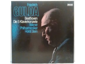 4LP Box  Friedrich Gulda - Beethoven - Die 5 Klavierkonzerte, 1985