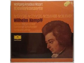 2LP Wolfgang Amadeus Mozart - Wilhelm Kempff/Berliner Philharmoniker/Bamberger Symphoniker, Ferdinand Leitner - Klavierkonzerte Nr. 8 C-Dur, Nr. 27 B-Dur, Nr. 23 A-Dur and Nr. 24 C-Moll, 1960