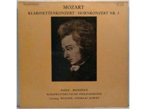 LP Wolfgang Amadeus Mozart - KV 622 Klarinettekonzert A Dur/KV 447 Hornkonzert Nr. 3