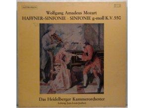 LP Wolfgang Amadeus Mozart - Heidelberger Kammerorchester, Jean-Louis Joubert - Haffner-Sinfonie • Sinfonie G-moll K.V.550