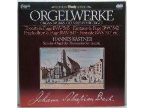 LP Hannes Kästner - Orgelwerke, Toccata & Fuge BWV 565, Fantasie & Fuge BWv 542, Praeludium & Fuge BWv 547, Fantasie BWV 572 etc., 1984