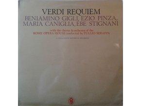 2LP G. Verdi - Maria Caniglia, Ebe Stignani, Beniamino Gigli, Rome Opera Chorus & Orchestra, Tullio Serafin – Requiem, 1964