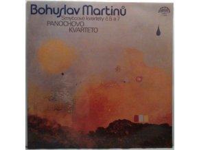 LP Bohuslav Martinů, Panochovo Kvarteto – Smyčcové Kvartety Č. 5 A 7, 1981