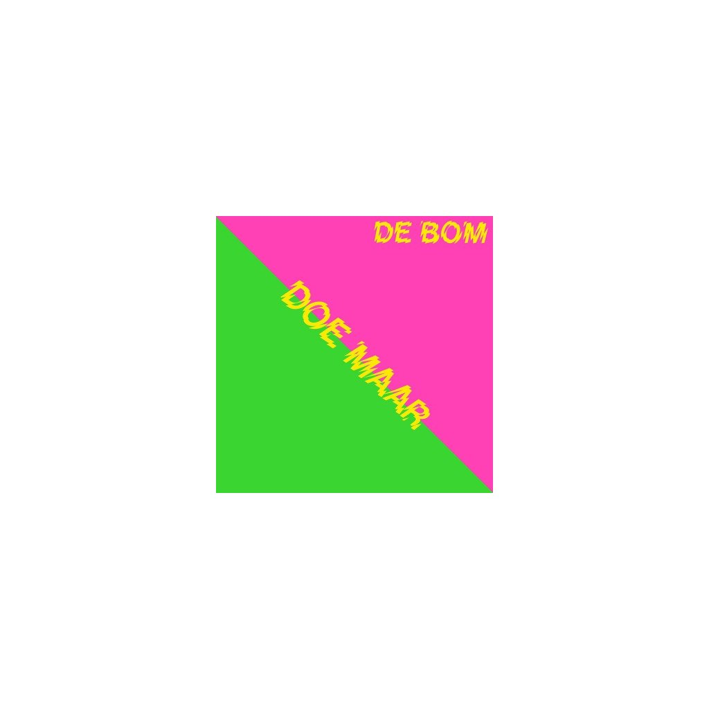 "VINYLO.SK | DOE MAAR - 7-DE BOM (12in)7""/DISCO SLEEVE/1000CPS COLOURED(YELLOW/GREEN)/RSD 2019"