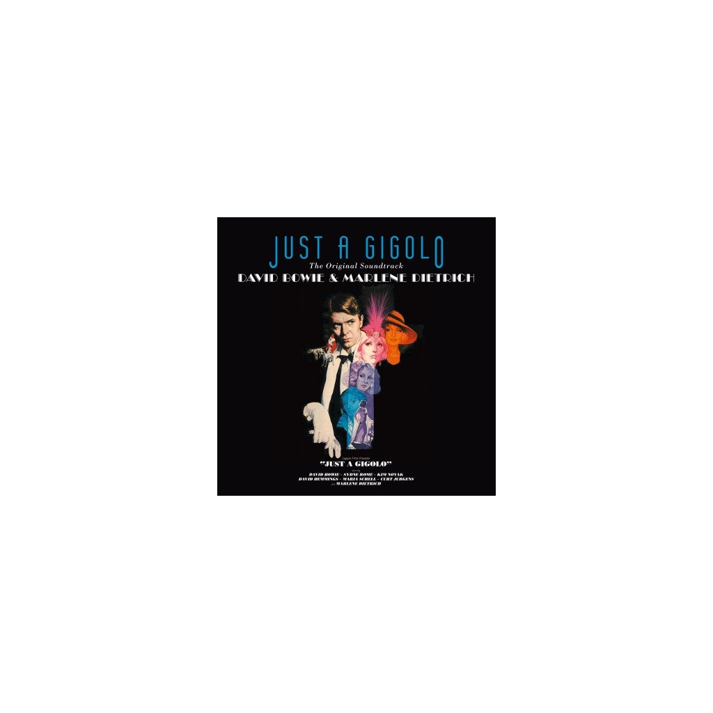 VINYLO.SK | OST - JUST A GIGOLO (LP)180GR./DAVID BOWIE & DIETRICH/3000 CPS TRANSPARENT BLUE
