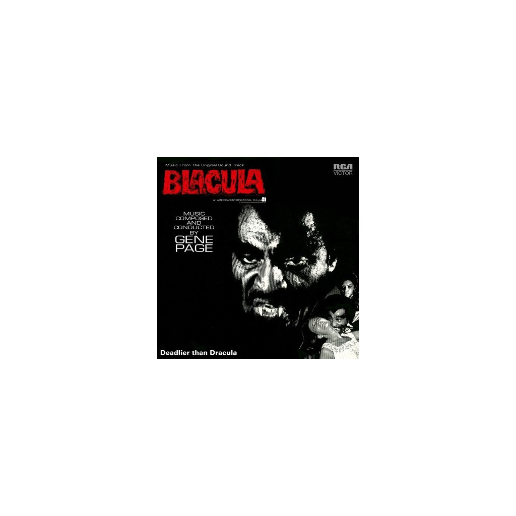 VINYLO.SK | OST - BLACULA (LP)180GR/GENE PAGE/666 CPS ON SILVER & BLACK MARBLED VINYL