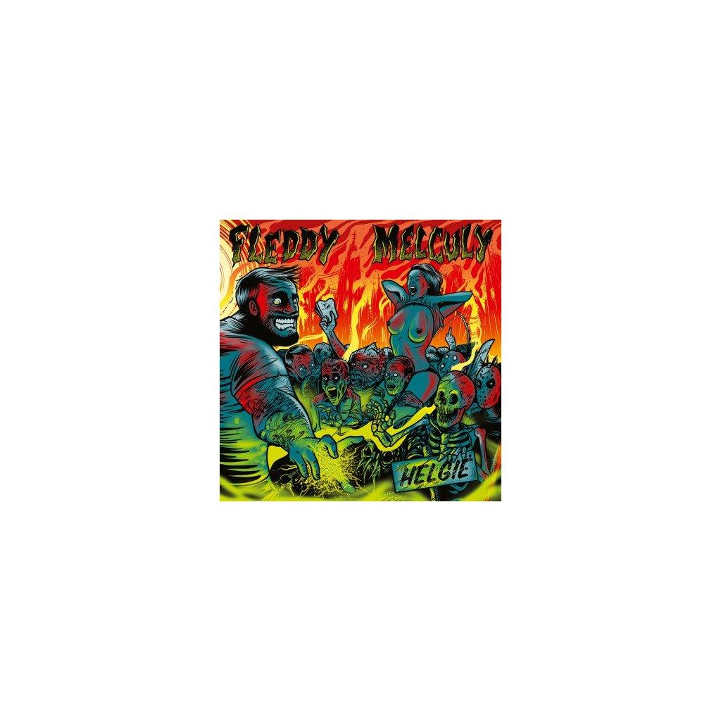 VINYLO.SK | FLEDDY MELCULY - HELGIE (LP)180GR/MINI-POSTER/350 CPS ON GREEN & YELLOW MIXED VINYL