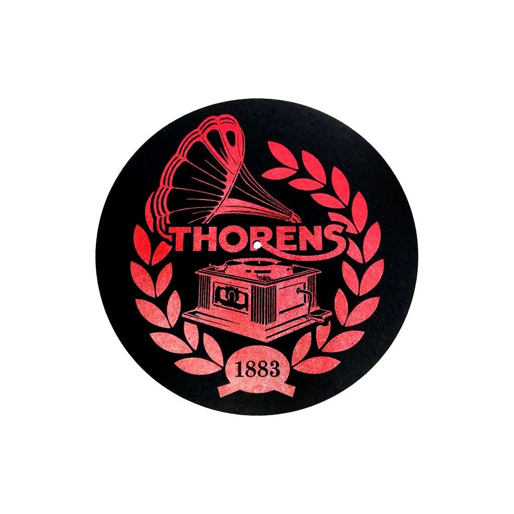 podlozka thorens felt mat cierna s logom thorens