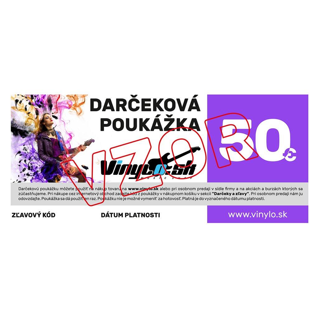 VINYLO.SK | Darcekova poukazka 50eur