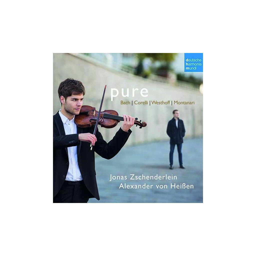 VINYLO.SK | ZSCHENDERLEIN, JONAS & ALEXANDER - PURE — WORKS FOR VIOLIN AND HARPSICHORD BY BACH, CORELLI, VON WESTHOFF & MONTANARI [CD]