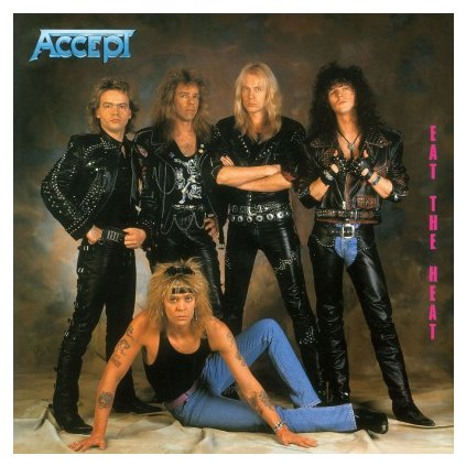 VINYLO.SK | ACCEPT - EAT THE HEAT (LP)180GR./INSERT/30TH ANN./2000 CPS FLAMING COLOURED VINYL