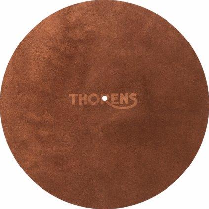 polozka thorens leather mat kozena hneda