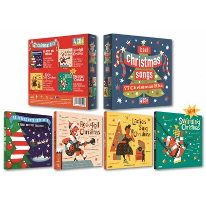 VINYLO.SK | RÔZNI INTERPRETI ♫ CHRISTMAS SONGS / BOX SET [4CD] 3411369990920