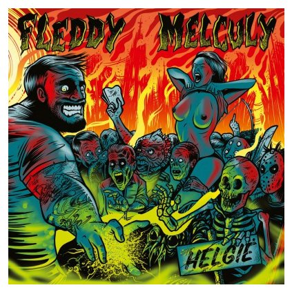 VINYLO.SK | FLEDDY MELCULY - HELGIE (LP)180GR/MINI-POSTER/350 CPS ON GREEN & YELLOW MIXED VINYL