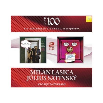VINYLO.SK | LASICA MILAN / SATINSKÝ JÚLIUS ♫ KTOSI JE ZA DVERAMI [2CD] 8584019010721