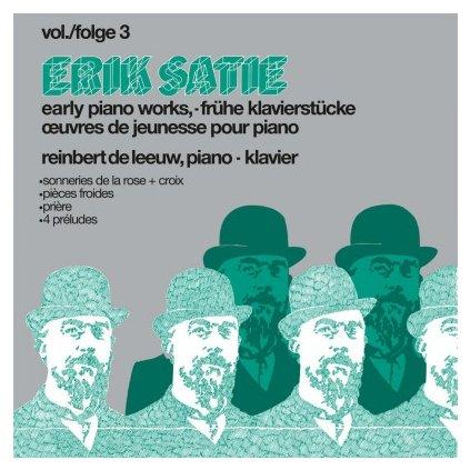 VINYLO.SK | SATIE, E. - EARLY PIANOWORKS VOL.3 (LP)180GR./LEEUW, REINBERT DE/GATEFOLD/LINER NOTES/KVJ 2018