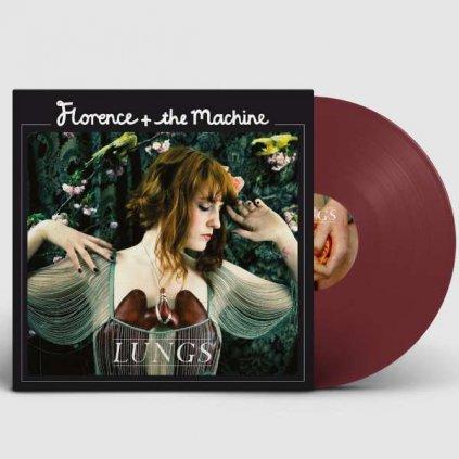 VINYLO.SK | FLORENCE / THE MACHINE ♫ LUNGS / Deluxe / COLOURED/FAREBNÝ VINYL [LP] 0602577603679