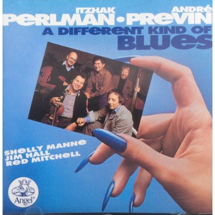 VINYLO.SK | ITZHAK PERLMAN, ANDRÉ PREVIN, SHELLY MANNE, JIM HALL, RED MITCHELL ♫ A DIFFERENT KIND OF BLUES (stav: NM/NM) [LP] B0002116