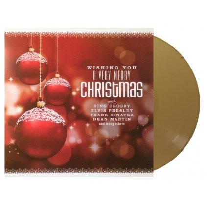 VINYLO.SK | Rôzni interpreti ♫ WISHING YOU A VERY MERRY CHRISTMAS / GOLD VINYL [LP] 8719039003181