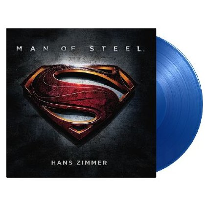 VINYLO.SK   OST / Hans Zimmer ♫ Man Of Steel / Limited Numbered Edition of 1500 copies / Translucent Blue Vinyl [2LP] 8719262017276