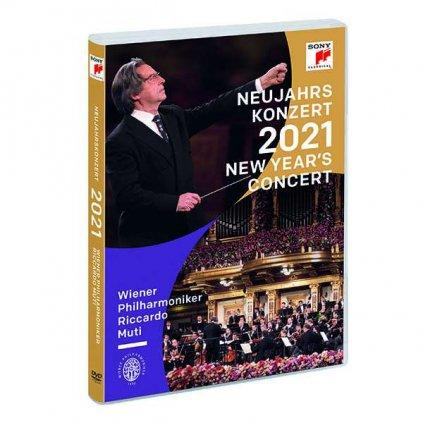 VINYLO.SK   Wiener Philharmoniker / Riccardo Muti ♫ Neujahrskonzert 2021 / New Year's Concert [DVD] 0194398401799